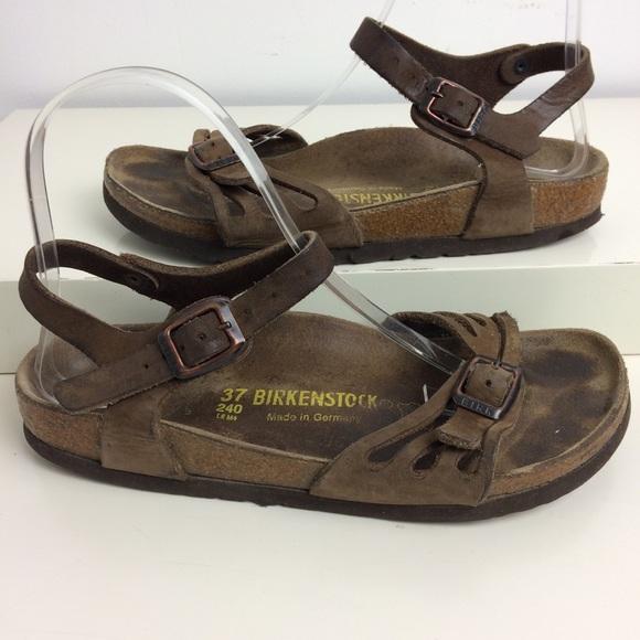ef851e9e891 Birkenstock Shoes - Birkenstock Bali Brown Leather Sandals Size 6
